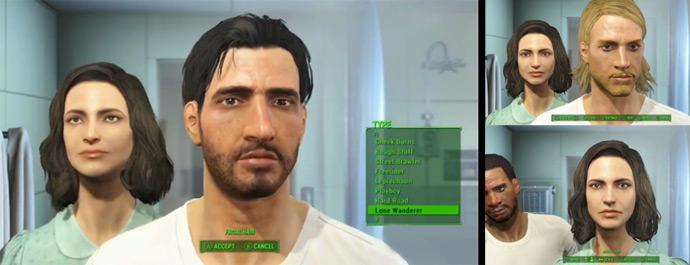Выбор и настройка персонажей в игре Fallout 4