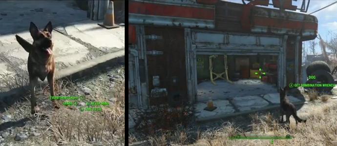 Собака в игре Fallout 4 как верный компаньон и полезный помощник